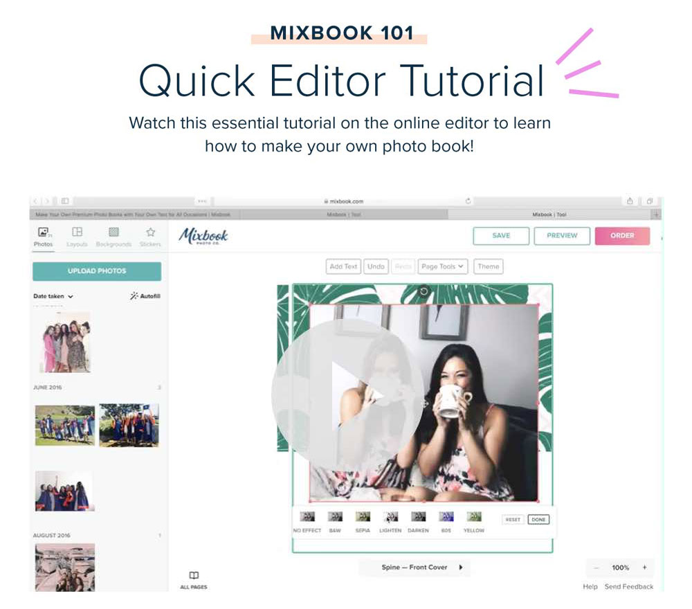 Mixbook 101: Quick Editor Tutorial