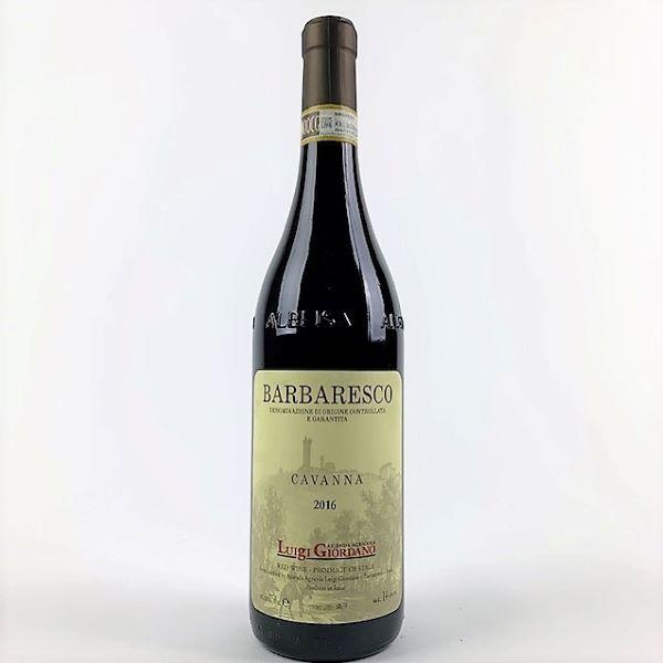 photo of bottle of Giordano Barbaresco Cavanna
