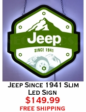 Jeep Since 1941 Slim Led Sign