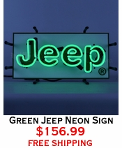 Green Jeep Neon Sign