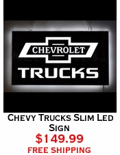 Chevy Trucks Slim Led Sign