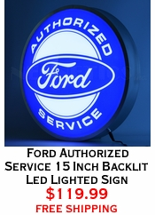 Ford Authorized Service 15 Inch Backlit Led Lighted Sign