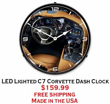 LED Lighted C7 Corvette Dash Clock