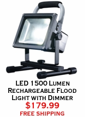 LED 1500 Lumen Rechargeable Flood Light with Dimmer