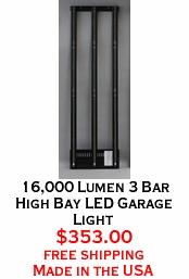 16,000 Lumen 3 Bar High Bay LED Garage Light