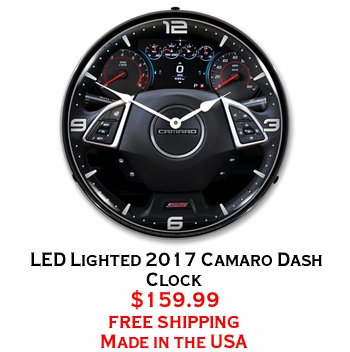 LED Lighted 2017 Camaro Dash Clock