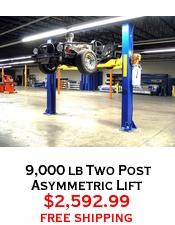 9,000 lb Two Post Asymmetric Lift