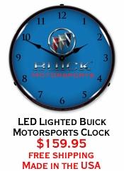 LED Lighted Buick Motorsports Clock