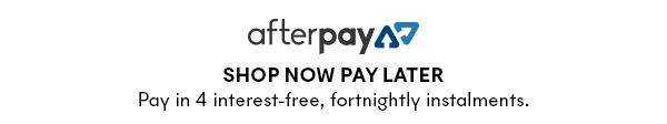 Shop now pay later with Afterpay