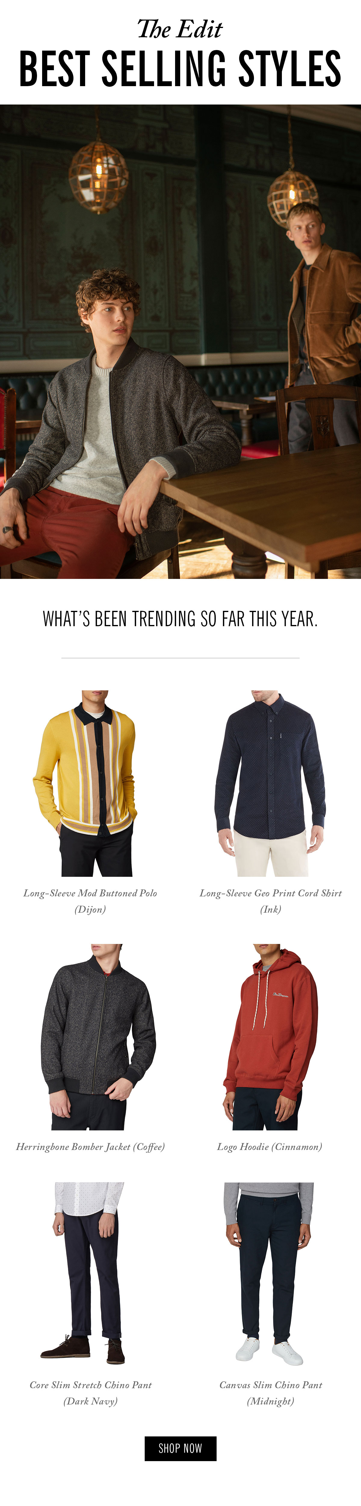 Best-selling styles | What's been trending so far this year