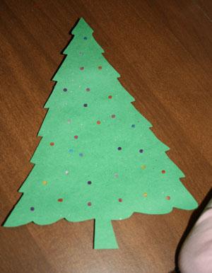 Light Up Christmas Tree Craft