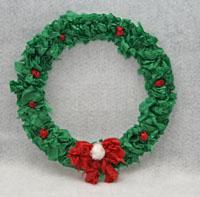 Tissue Paper Wreath Craft