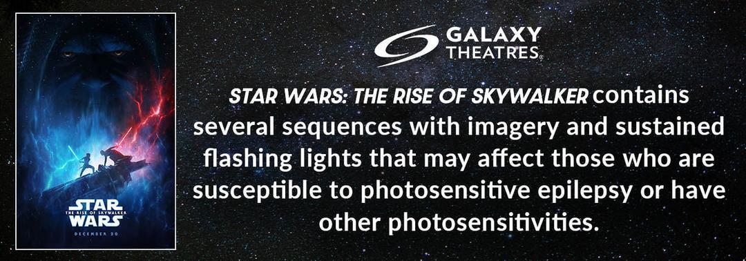 Star Wars Photosensitivity Warning