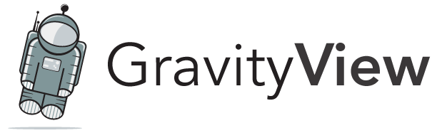 GravityView logo, featuring Floaty the Astronaut (Our Biggest Fan)