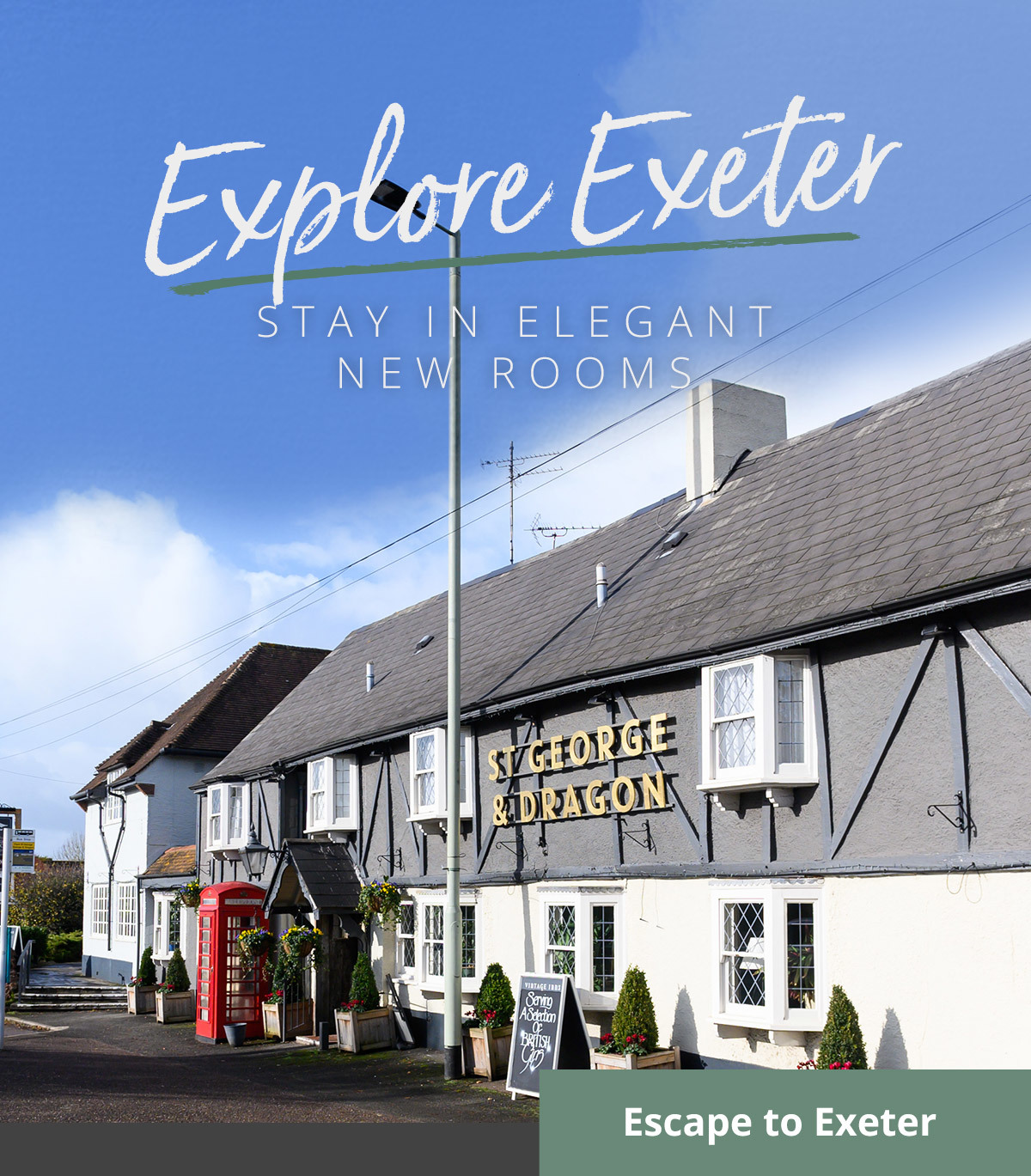 Our St George & Dragon hotel in Exeter is better than ever. Explore Exeter's outdoor beauty and book your room now.