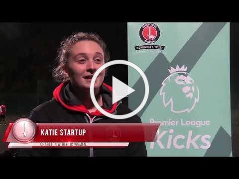 Katie Startup visits Premier League Kicks launch