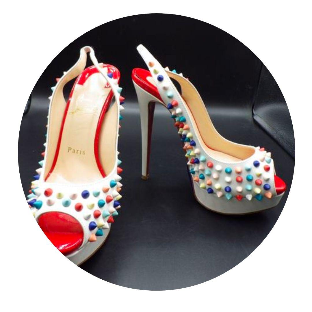 Christian Louboutin High Heel Open Toe Shoes