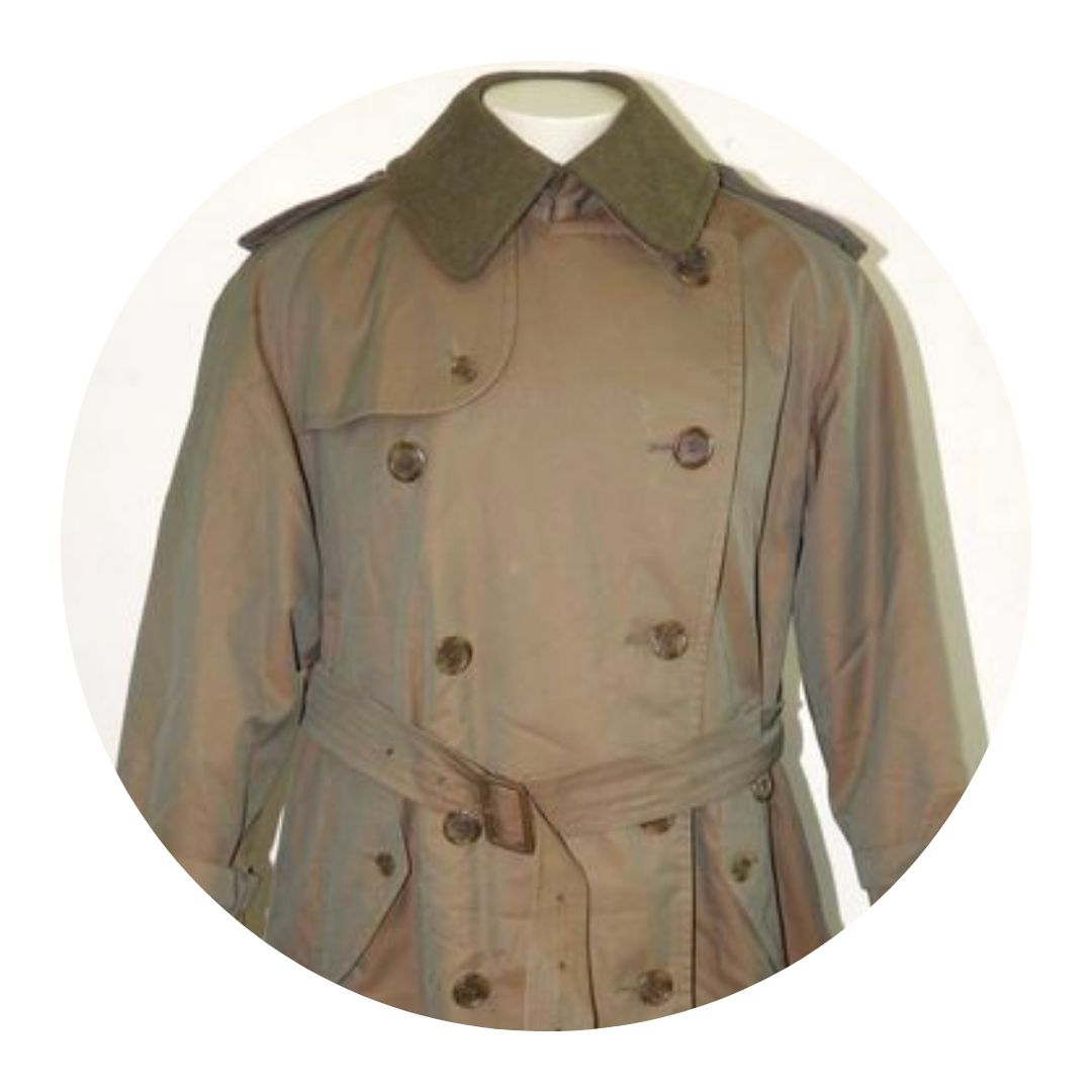 Burberry Mens Trench Coat Lining Green