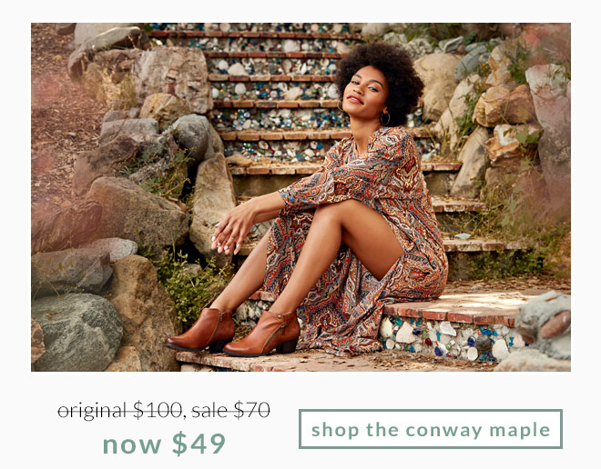Original $100, Sale $70, now $49! Shop the Conway Maple