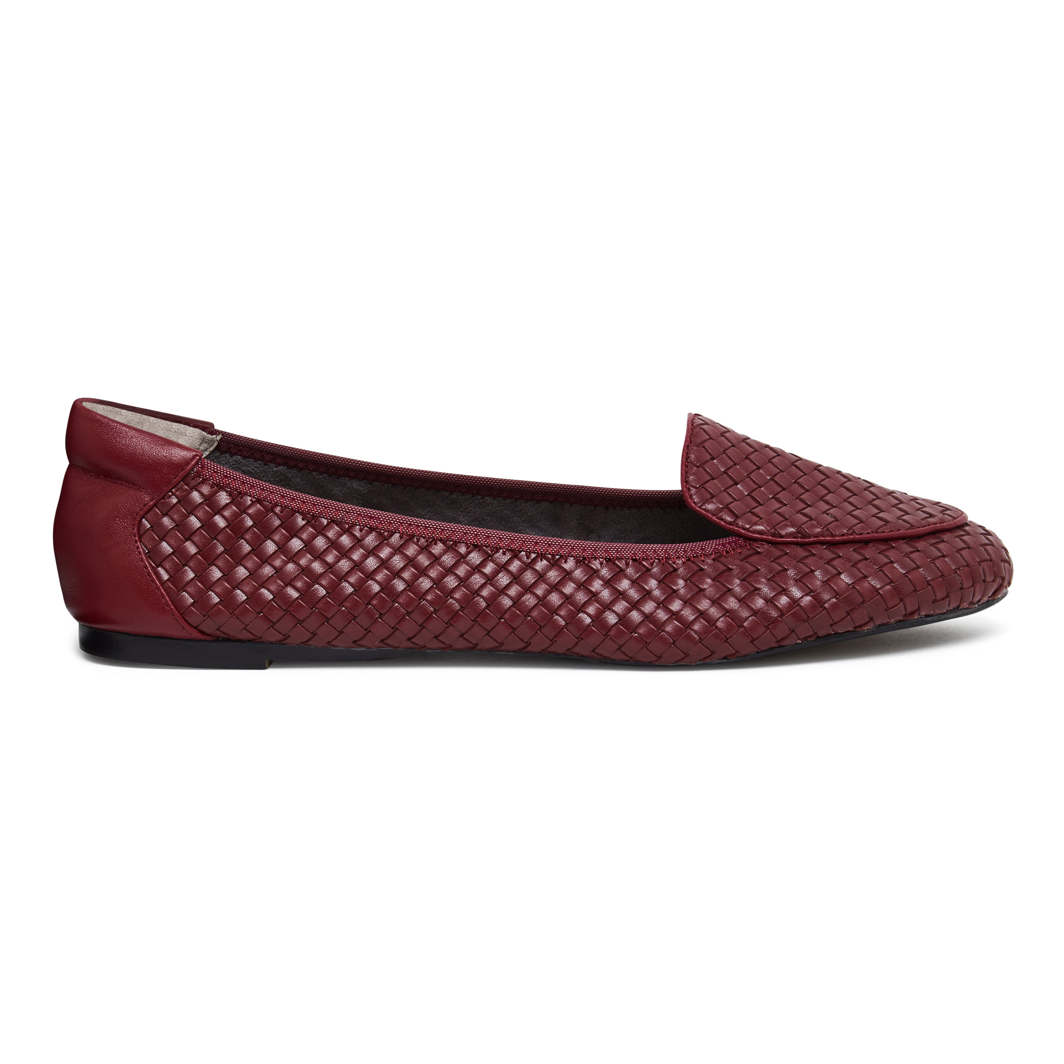 Clapham - Burgundy Woven Leather Loafers