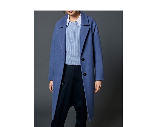 Blue Boyfriend Coat