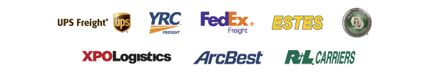 UPS Freight, YRC Freight, FedEx Freight, Estes, Old Dominion Freight Line, XPO Logistics, ArcBest, R+L Carriers