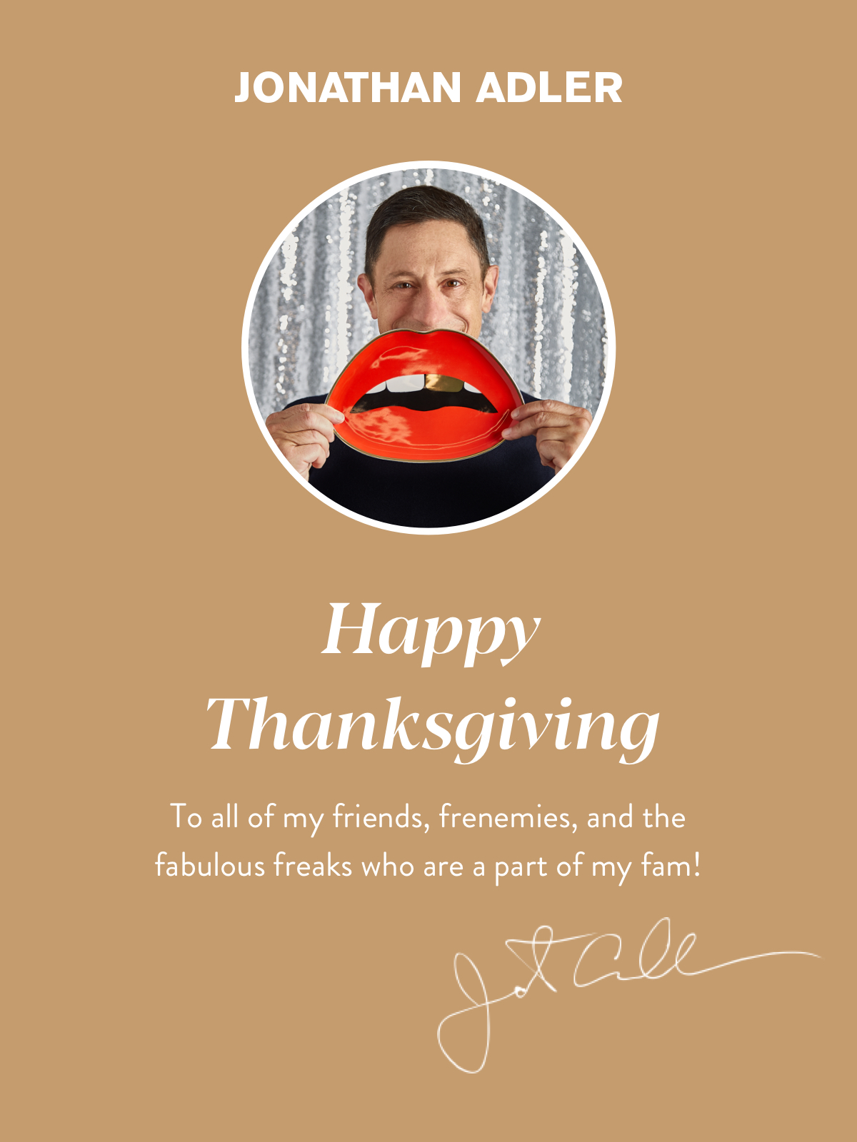 Happy Thanksgiving from Jonathan Adler | Shop Now