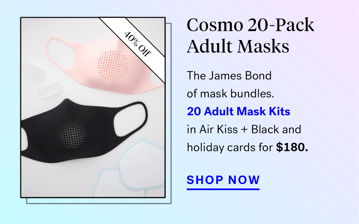 Cosmo 20-Pack Adult Masks (badge for 40% off)