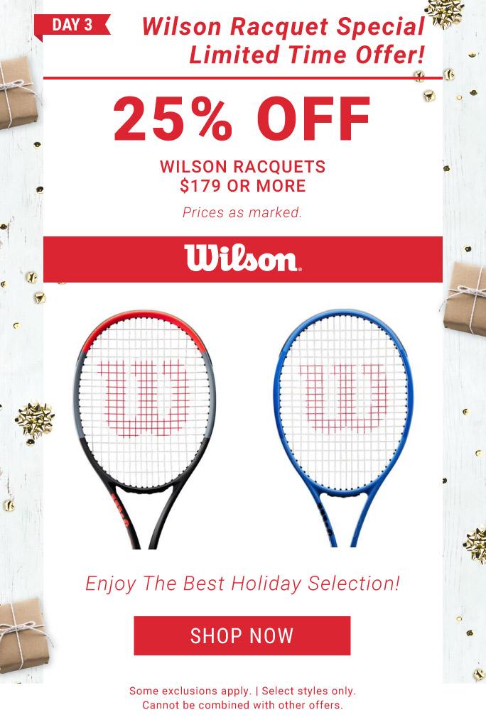 12 Days of Deals Day 3 Wilson Racquet Deal