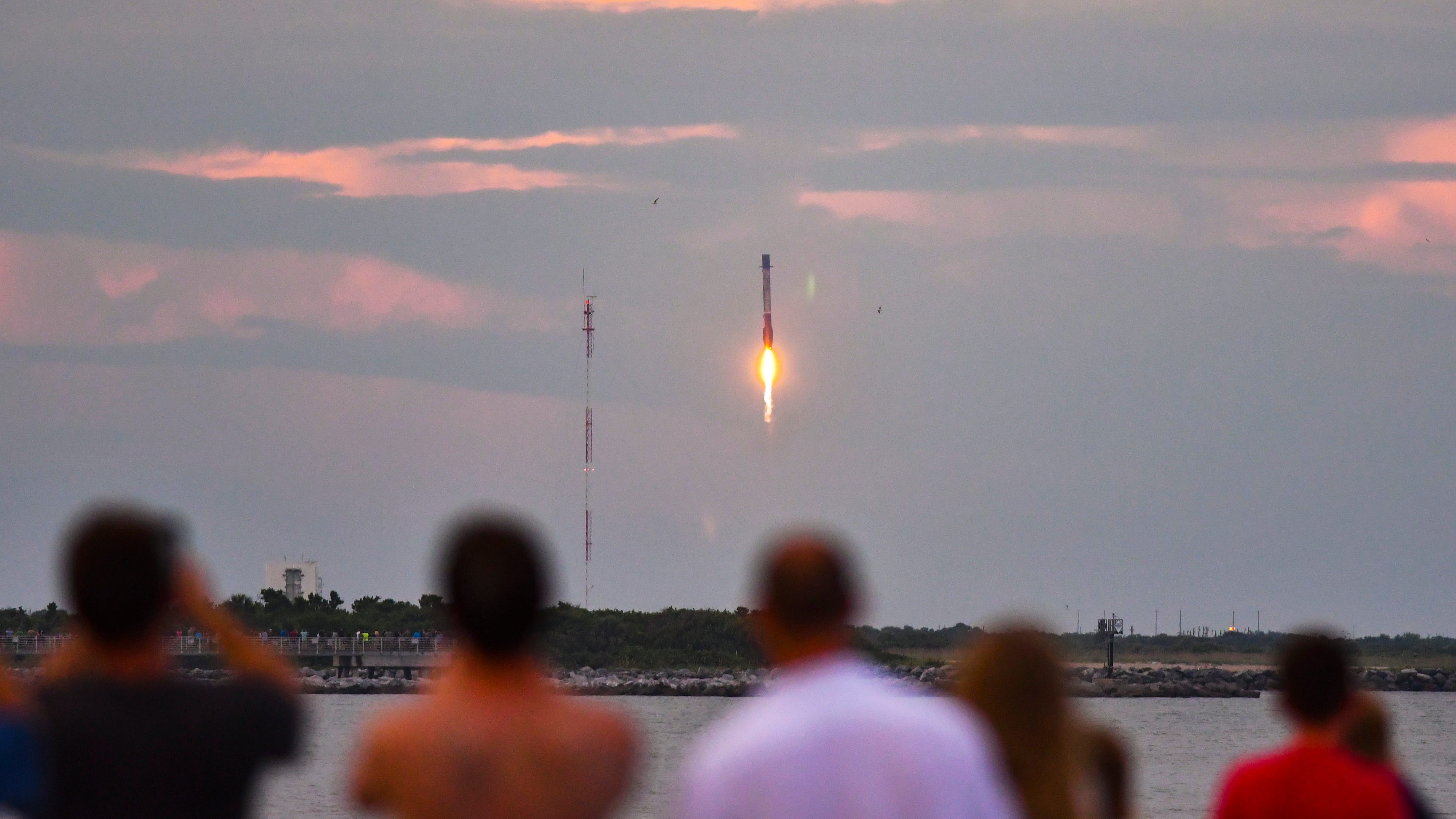 People at Cherie Down Park in Cape Canaveral watch