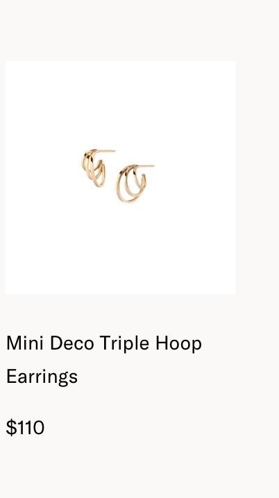 Mini Deco Triple Hoop Earrings