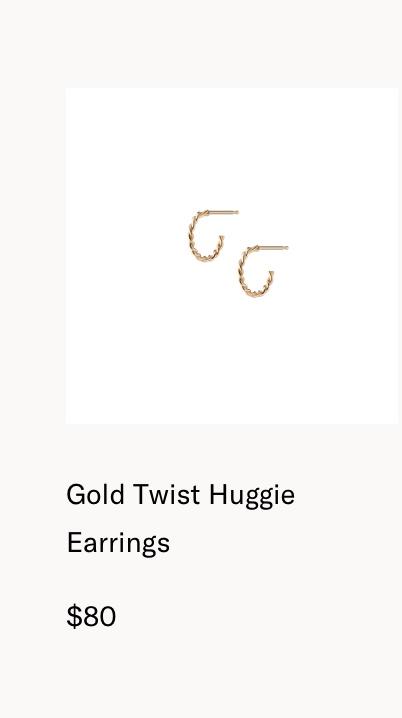 Gold Twist Huggie Earrings
