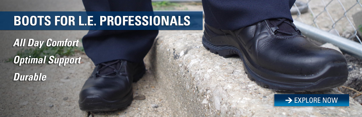 Explore Law Enforcement boots and save on your next order