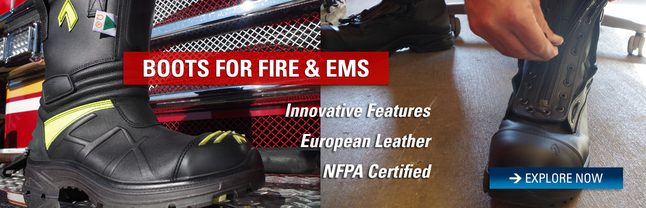 Explore Fire and EMS boots and save on your next order