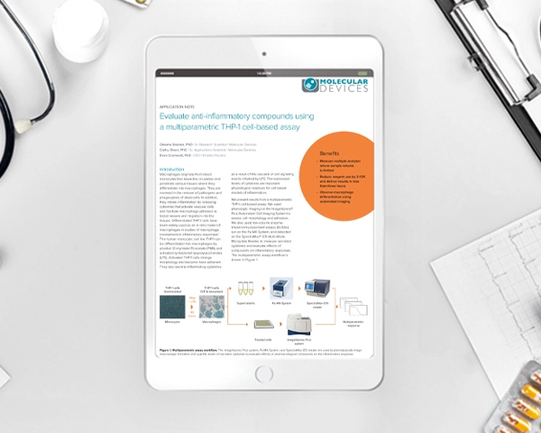 Application note: Evaluate anti-inflammatory compounds using a multiparametric THP-1 cell-based assay
