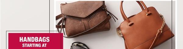 Handbags starting at $14.99*