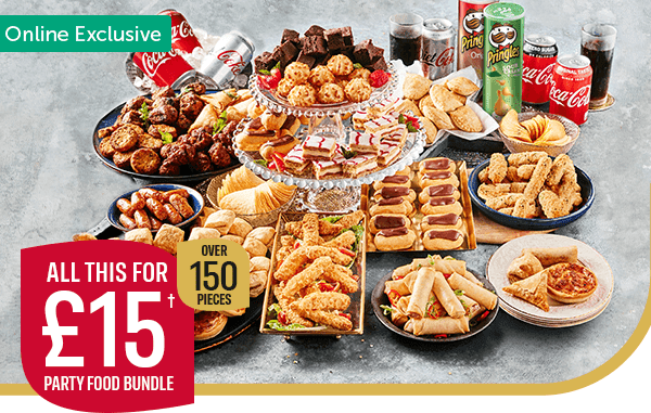 Online Exclusive All this for �� Party Food Bundle Over 150 Pieces