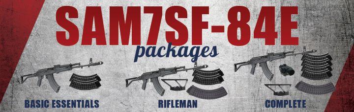 SAM7SF 7.62x39 caliber rifle, Bulgarian Side folder buttstock, Enhanced FCG, 10 round magazine