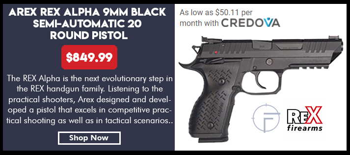 Arex Rex Alpha 9 9mm Black Semi-Automatic 20 Round Pistol