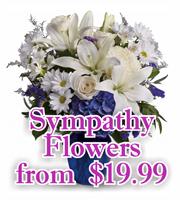 Sympathy Flowers form $19.99