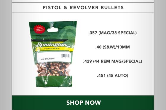 15% OFF All Pistol & Revolver Bullets