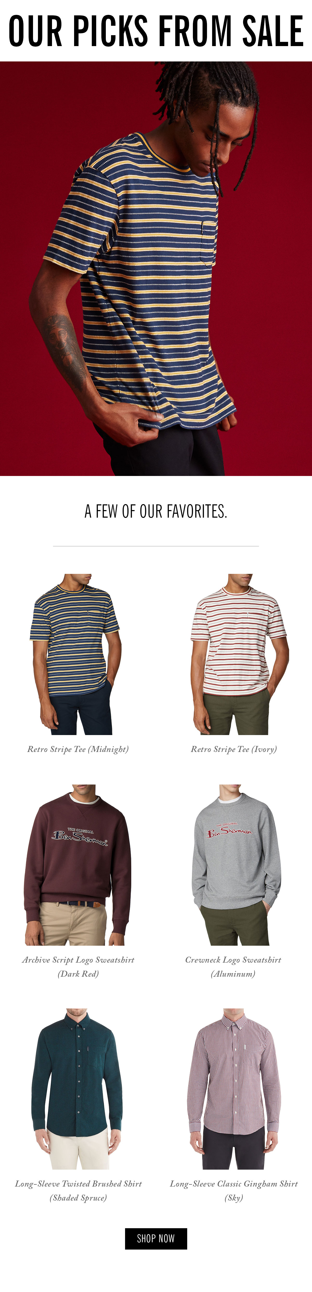 Our picks from sale | Men's shirts, t-shirts, sweatshirts, button-down shirts | Shop Now