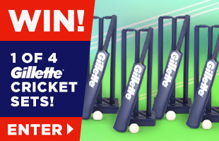 1 of 4 Gillette Cricket Sets to be won