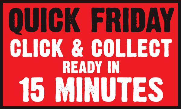 Click and Collect ready in 15 minutes!