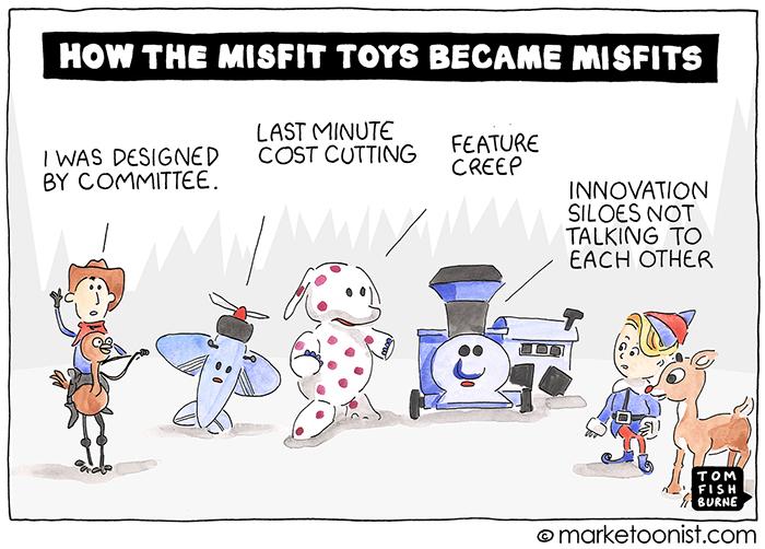 Island of Misfit Innovation cartoon