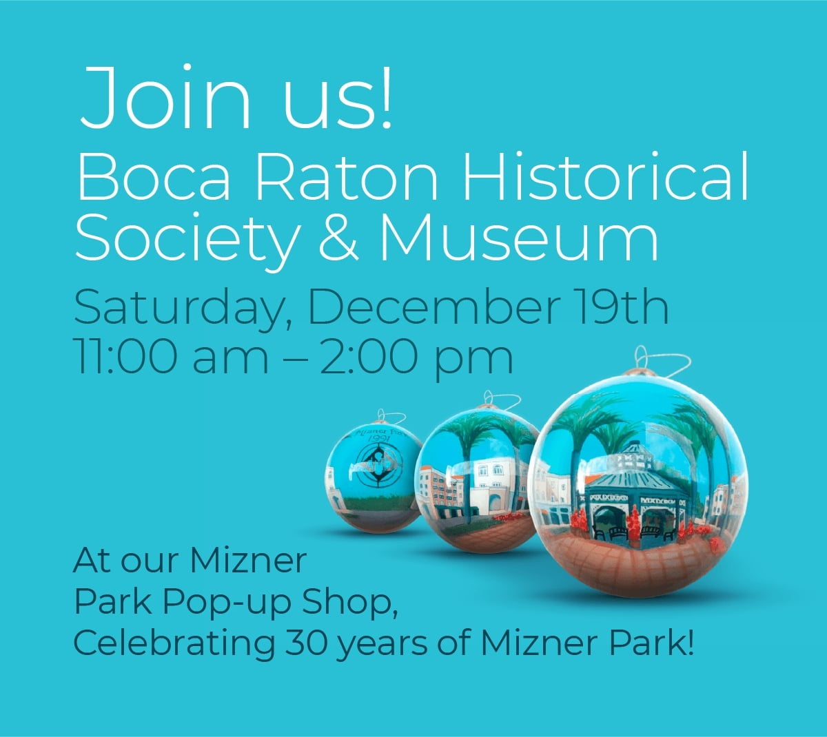 2020 Boca Raton Historical Society Commemorative Holiday Ornament