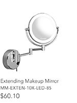 Extending Makeup Mirror