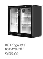 Bar Fridge 198L