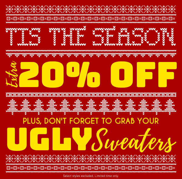 Extra 20% Off Sitewide!