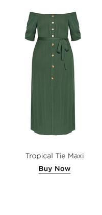 Tropical Tie Maxi Dress